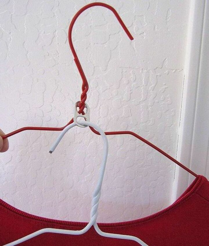 s 15 insanely smart hanger hacks you ll wish you d seen sooner, crafts, organizing, repurposing upcycling, Double them up for more storage
