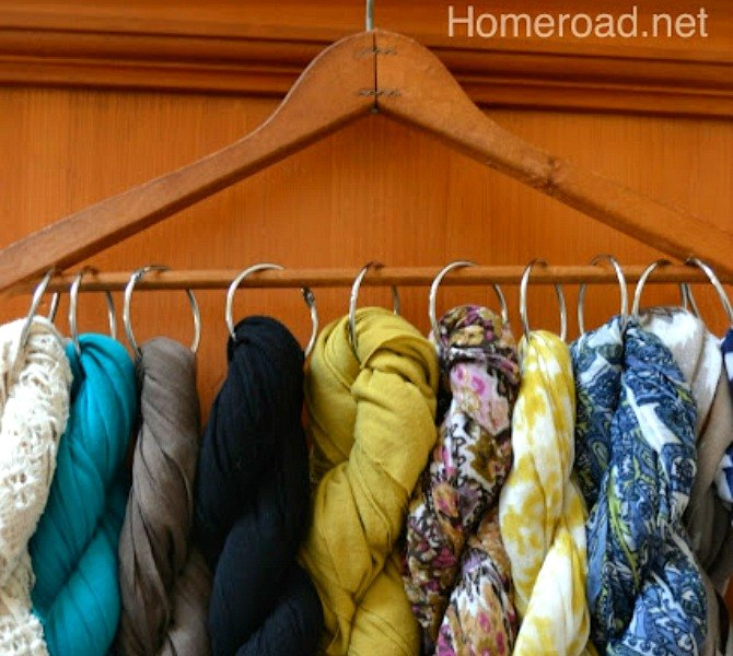 s 15 insanely smart hanger hacks you ll wish you d seen sooner, crafts, organizing, repurposing upcycling, Organize a scarf collection