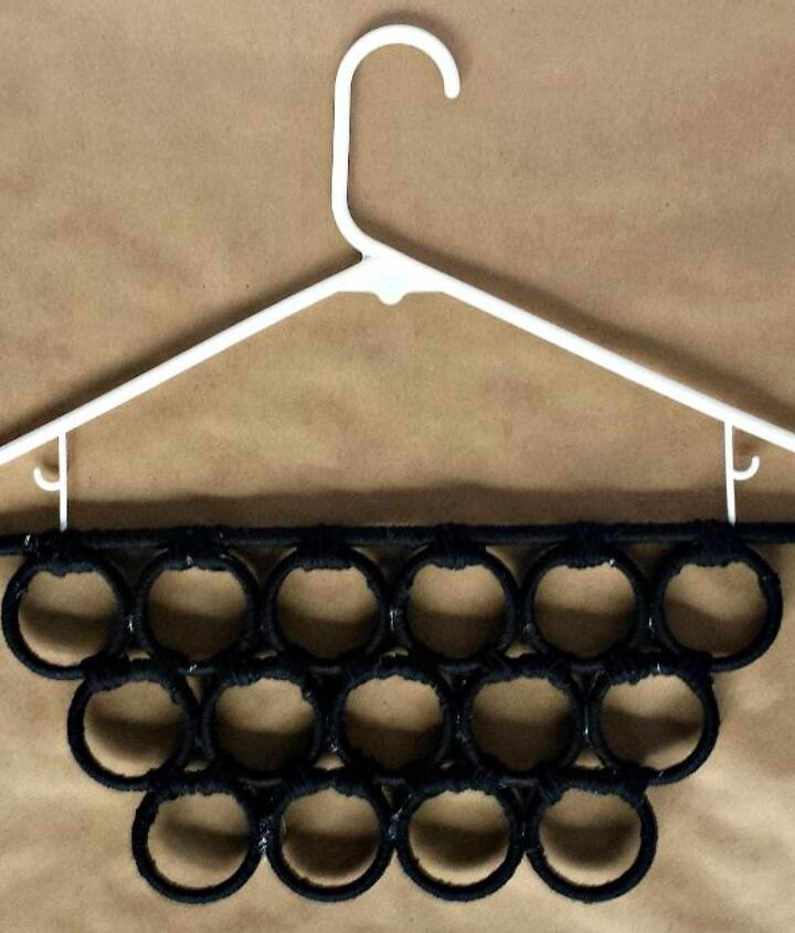 s 15 insanely smart hanger hacks you ll wish you d seen sooner, crafts, organizing, repurposing upcycling, Or make an organizer from shower rings