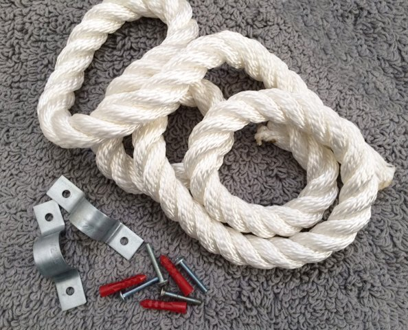 diy rope towel holder, bathroom ideas, diy, organizing