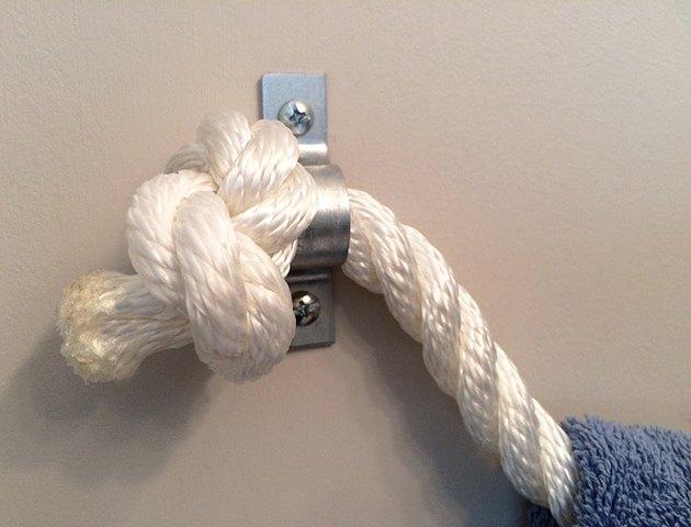 diy rope towel holder  bathroom ideas  diy  organizing. DIY Rope Towel Holder   Hometalk