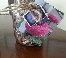 growing zinnias, container gardening, flowers, gardening, mason jars