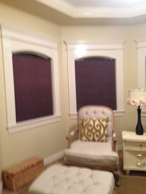 q placement of roman shades, window treatments, windows