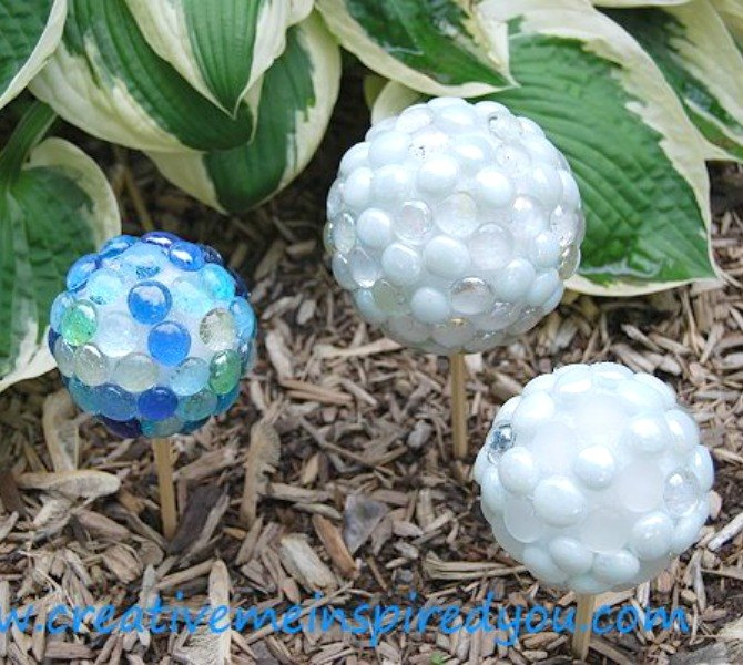s 17 stunning ideas for your dollar store gems, crafts, gardening, Create garden gazing stones