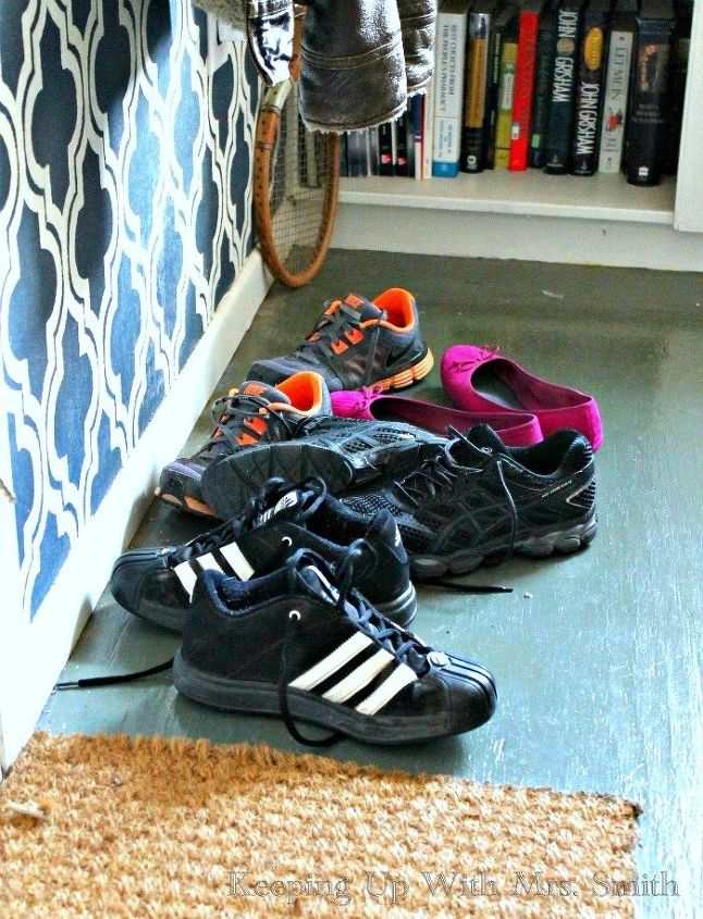 how i solved our entryway shoe pile problem, closet, foyer, organizing, storage ideas