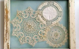 salvaged window frame doily display, crafts, repurposing upcycling, wall decor, windows