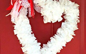 Easy and Inexpensive Valentine Wreath