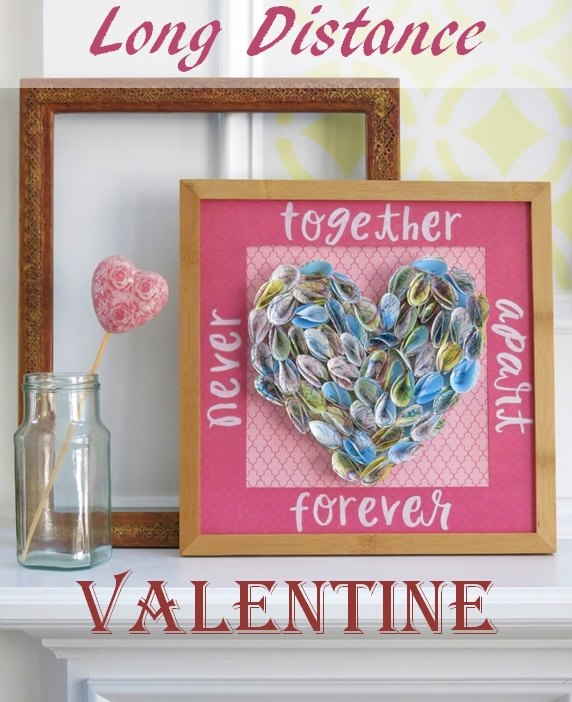 special heart valentine wall art celebrating long distance love, crafts, seasonal holiday decor, valentines day ideas, wall decor