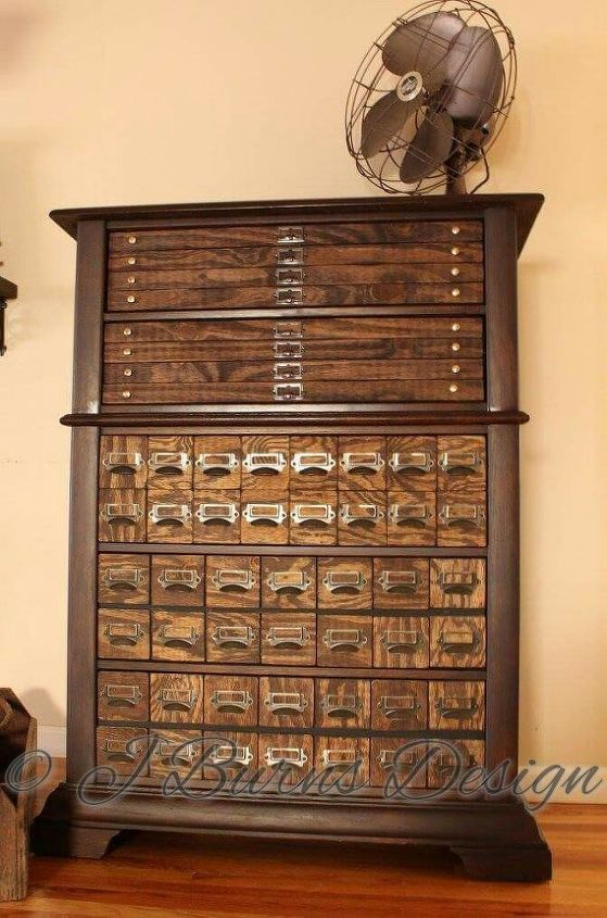 diy faux printers map cabinet, diy, painted furniture, painting wood furniture, woodworking projects
