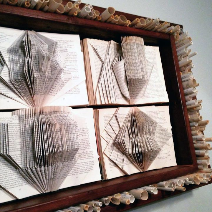 our favorite recycled book art, crafts, repurposing upcycling, wall decor