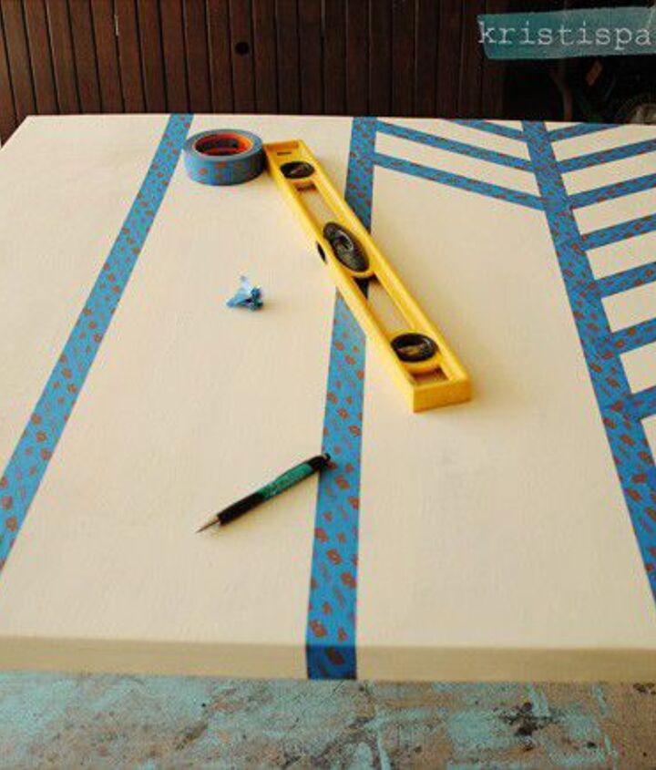 diy herringbone art as wallcandy, chalk paint, crafts, wall decor
