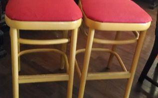 the amazing power of paint and fabric, painted furniture, reupholster