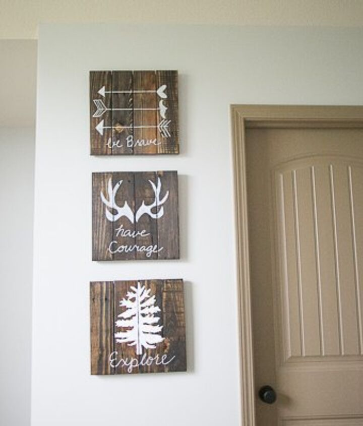 diy rustic wall art for nursery, bedroom ideas, pallet, rustic furniture, wall decor, woodworking projects