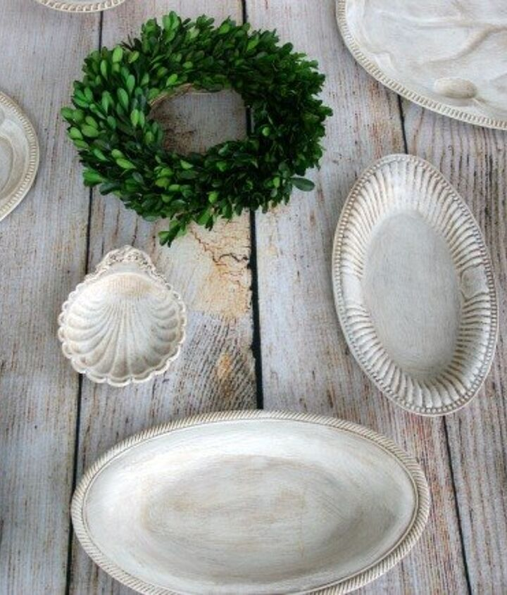 upcycled thrift store plates, chalk paint, crafts, home decor
