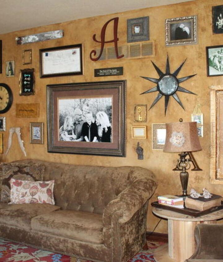my gallery wall of old windows, repurposing upcycling, wall decor, windows