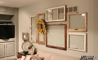 my gallery wall of old windows, repurposing upcycling, wall decor, windows