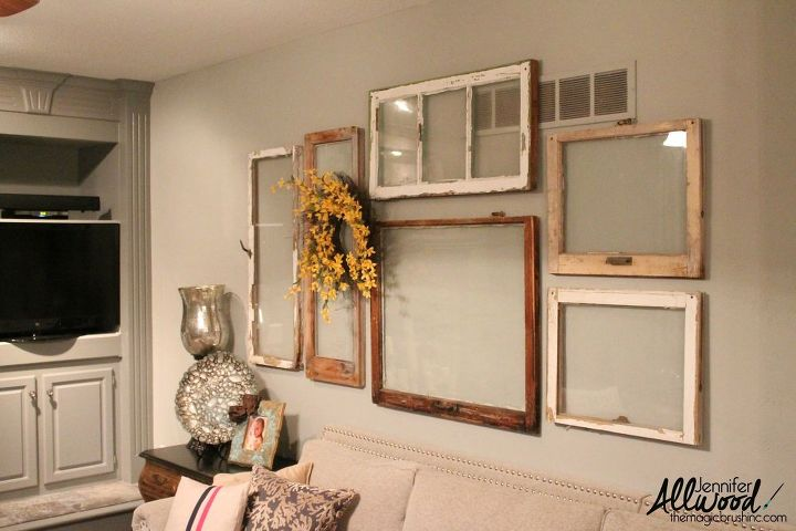 My Gallery Wall of Old Windows | Hometalk