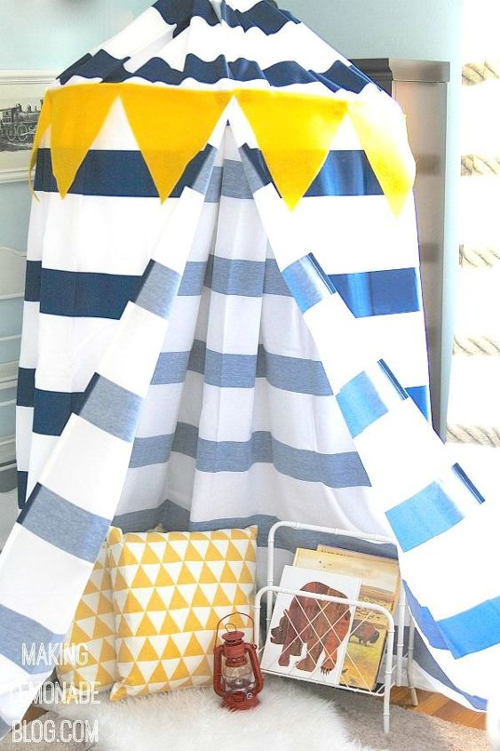become a rockstar in under an hour diy kid s play canopy, dining room ideas, entertainment rec rooms, repurposing upcycling, reupholster