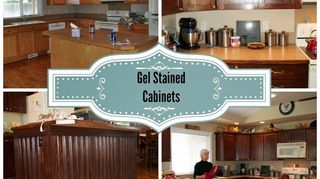 , Gel stained oak cabinets