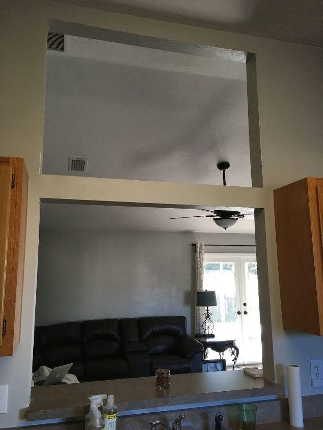 Window opening between kitchen living room hometalk - Open window between kitchen living room ...