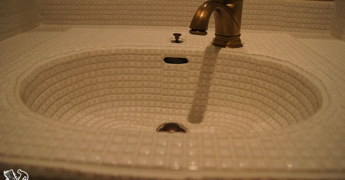 Old Sink Makeover With Tiles!   Hometalk