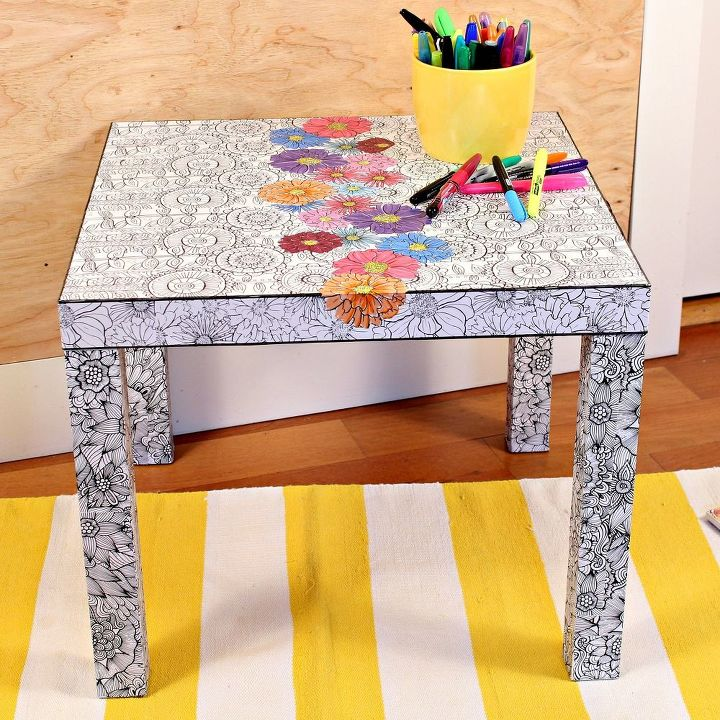 Ikea Hack With Adult Coloring Books | Hometalk