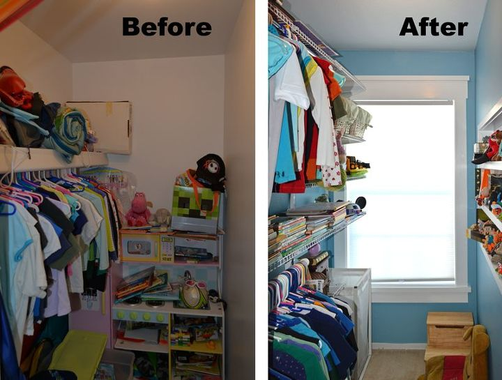 Kid S Closet Remodel Reveal Home Improvement Organizing Shelving Ideas