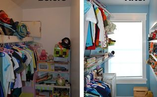 kid s closet remodel reveal, closet, home improvement, organizing, shelving ideas, windows