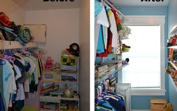 kid s closet remodel reveal, closet, home improvement, organizing, shelving ideas, windows