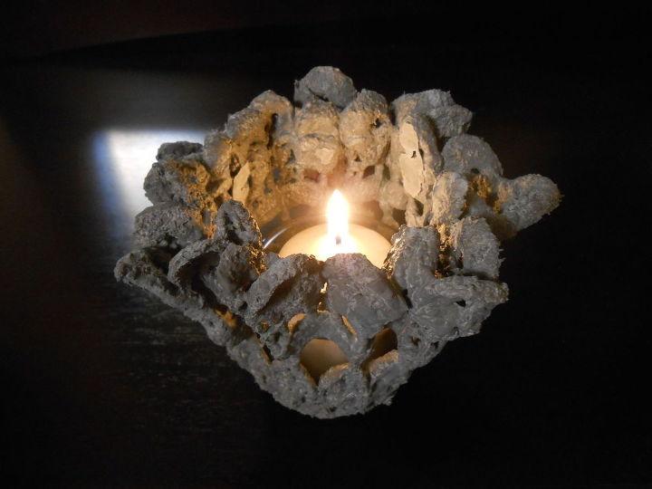 criar rendas de cimento usando doilies e outros itens de crochê, alvenaria de concreto, jardinagem de contêiner, artesanato, jardinagem, como