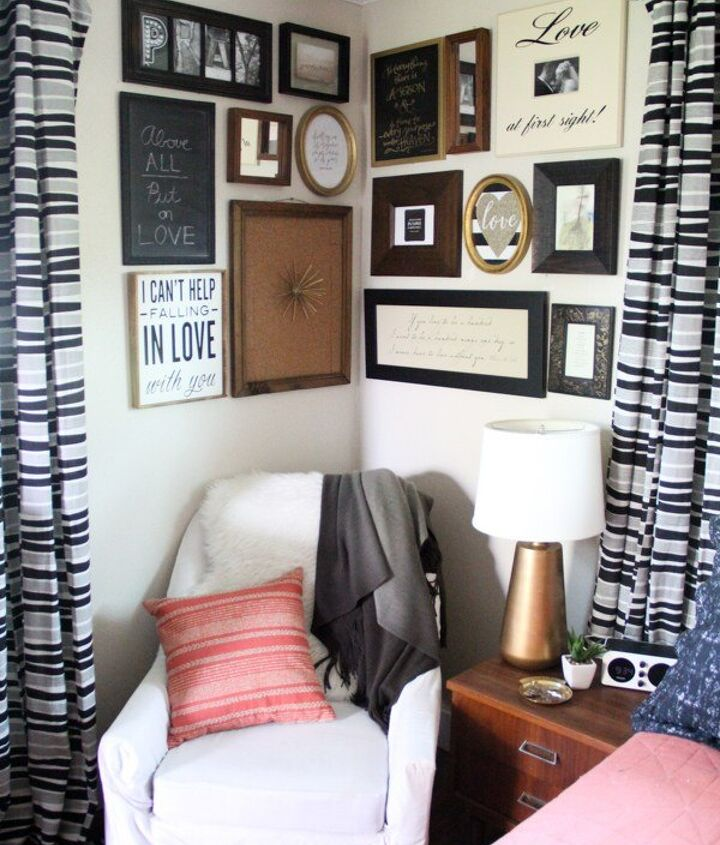 why a corner is the perfect space for a gallery wall, home decor, wall decor