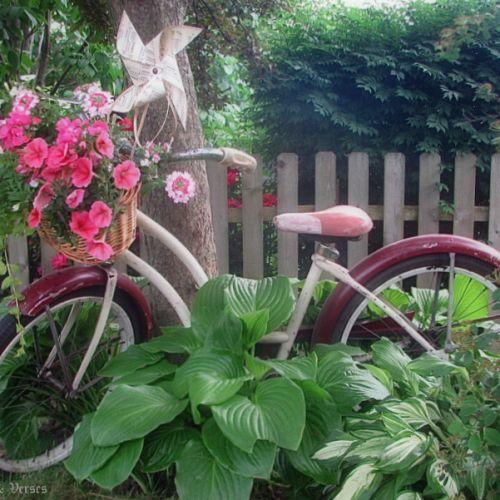 Vintage Bicycle Basket Planter   Hometalk