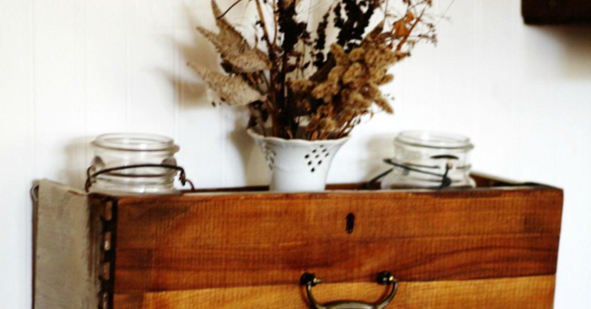 Turn An Old Dresser Drawer Into A Wall Storage Shelf