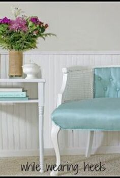 a 3 99 goodwill chair makeover and a few upholstery tips, painted furniture, reupholster