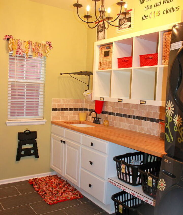 Finally got all the finishing touches finished in our laundry/mudroom.