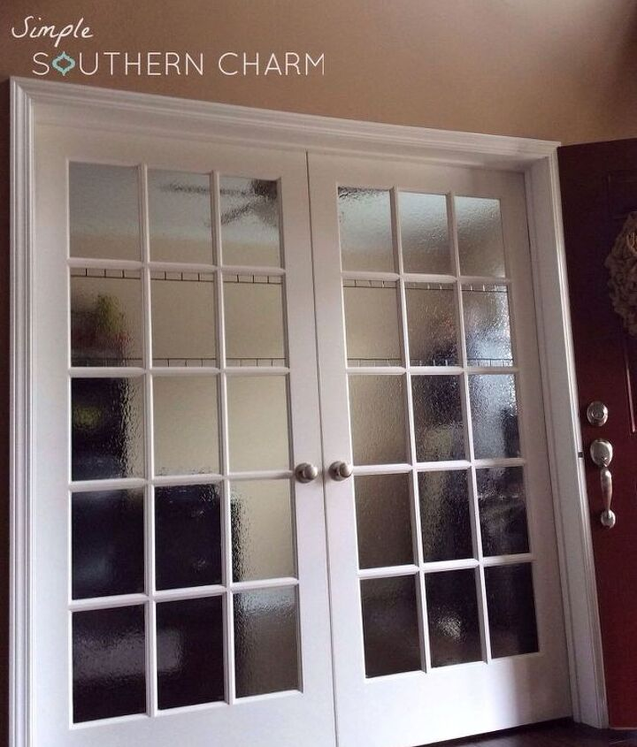 diy stained glass privacy doors windows, diy, doors, window treatments, windows