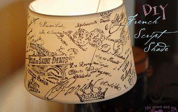 DIY French Script Lampshade