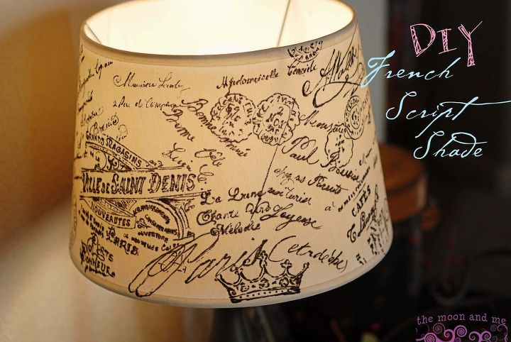 Decoupage french script lampshade hometalk decoupage lamshade french script decoupage home decor lighting mozeypictures Image collections