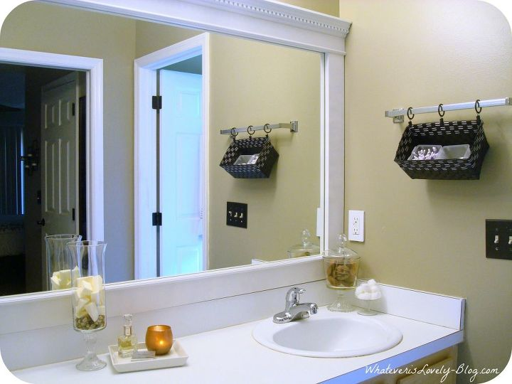 bathroom mirror framed with crown molding bathroom ideas home decor framed bathroom mirror - Decorate Mirror Frame