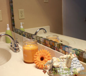 Mosaic Tile Framed Mirror, Bathroom Ideas, Home Decor, Tiling, My 15 Mirror