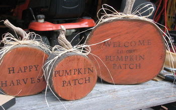 Firewood Pumpkins