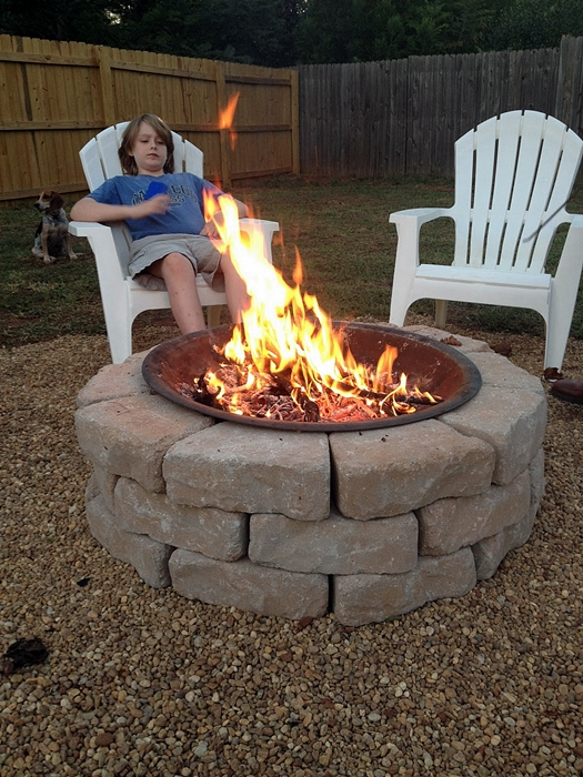 make an inexpensive backyard fire pit hometalk