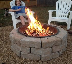 Backyard Fire Pit Build Inexpensive, Concrete Masonry, Diy, Outdoor Living