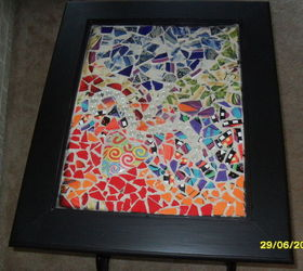 Tiling Mosaic Table Top, Crafts, Painted Furniture, Tiling