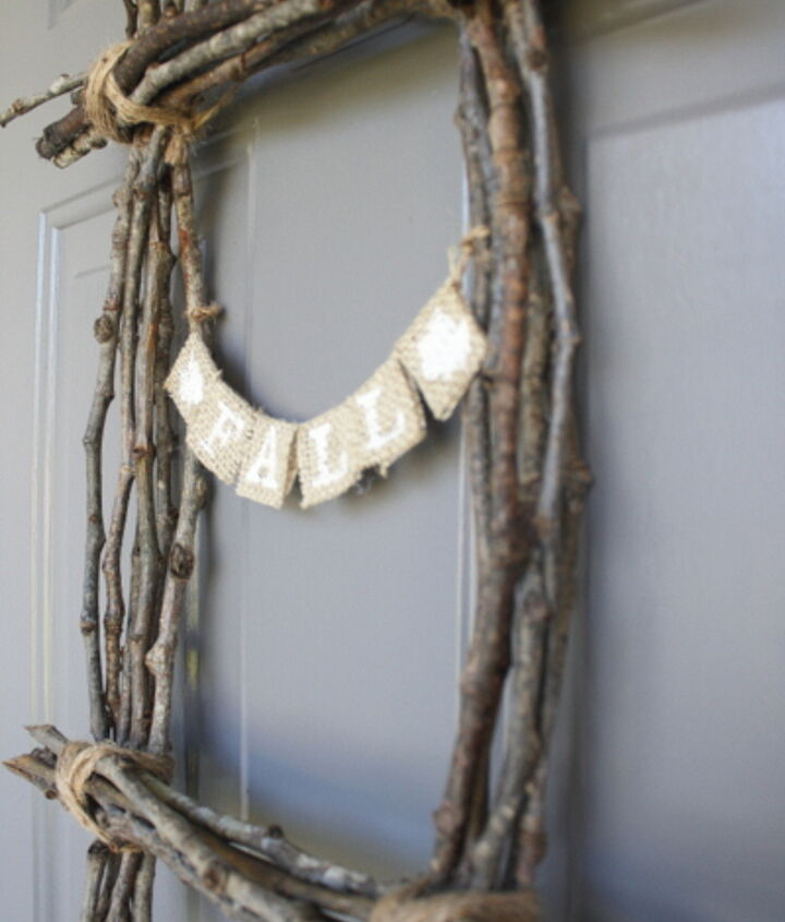 Fall Twig Wreath from Design, Dining + Diapers