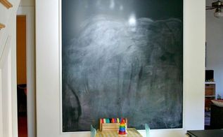 diy projects, chalk paint, chalkboard paint, painting, Paint a wall with chalkboard paint and then frame it with molding for a more finished look