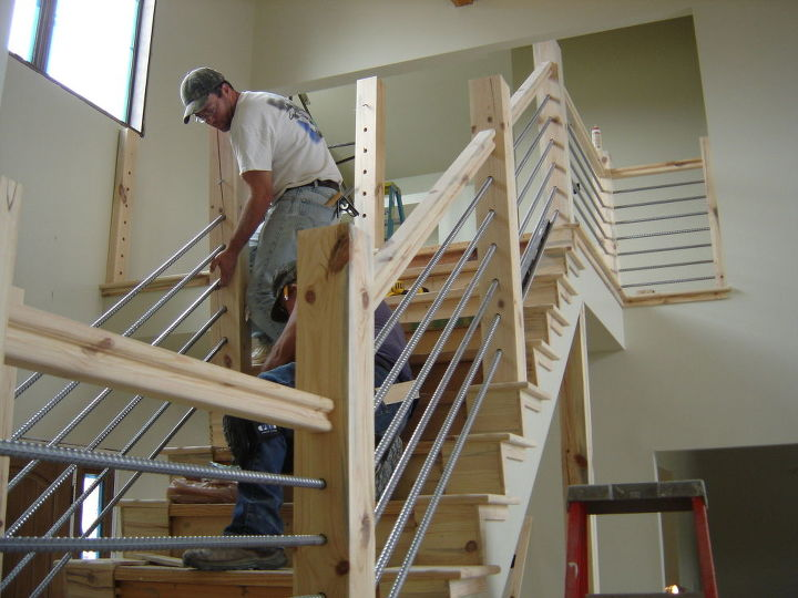 Woodworking Home Cable Rail Staircase Diy Stairs Projects