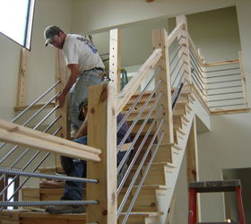 Delicieux Woodworking Home Cable Rail Staircase, Diy, Stairs, Woodworking Projects