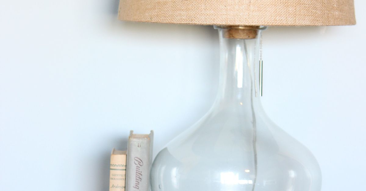 Diy Glass Bottle Lamp Pottery Barn Knock Off Hometalk