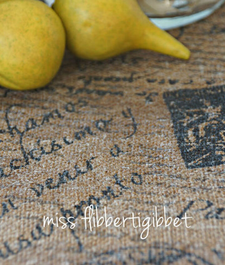 making a waterproof burlap topped table, crafts, painted furniture